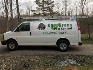 go green pest control service vehicle
